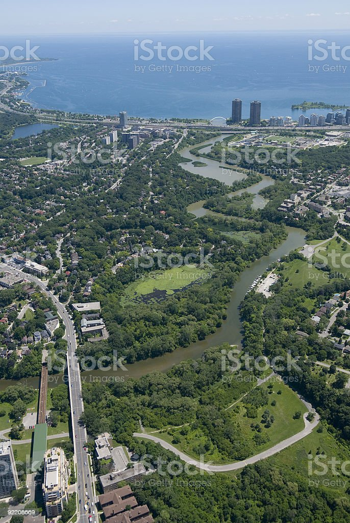 Humber River Toronto stock photo
