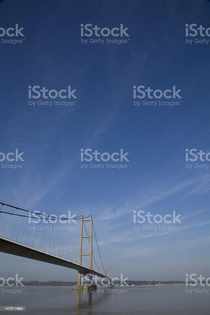 Humber Suspension Bridge royalty-free stock photo