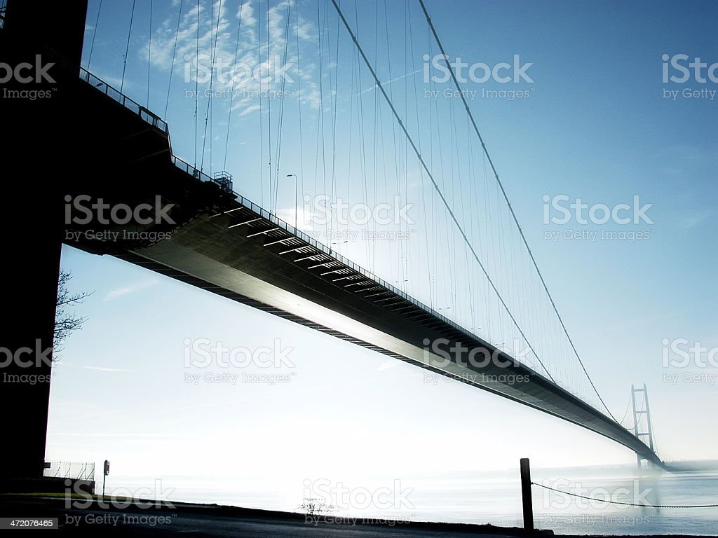 Humber Suspension Bridge stock photo
