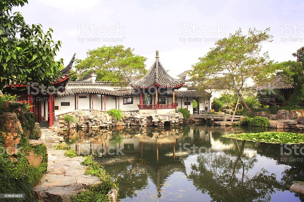 Humble Administrator's Garden in Suzhou, China stock photo