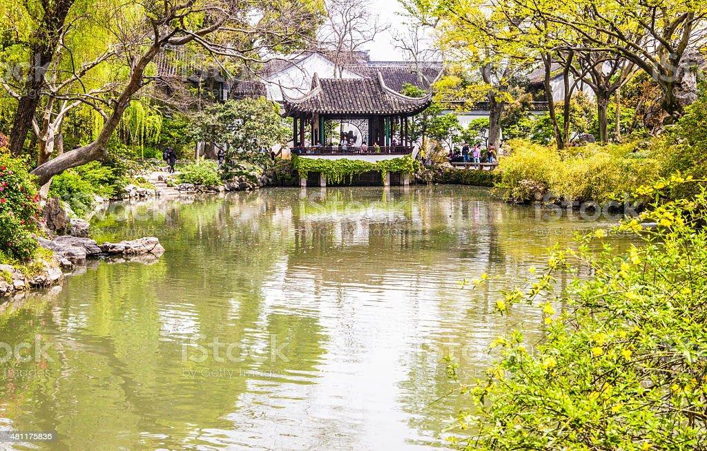 Humble Administrator's(Zhuozheng)Garden scece stock photo