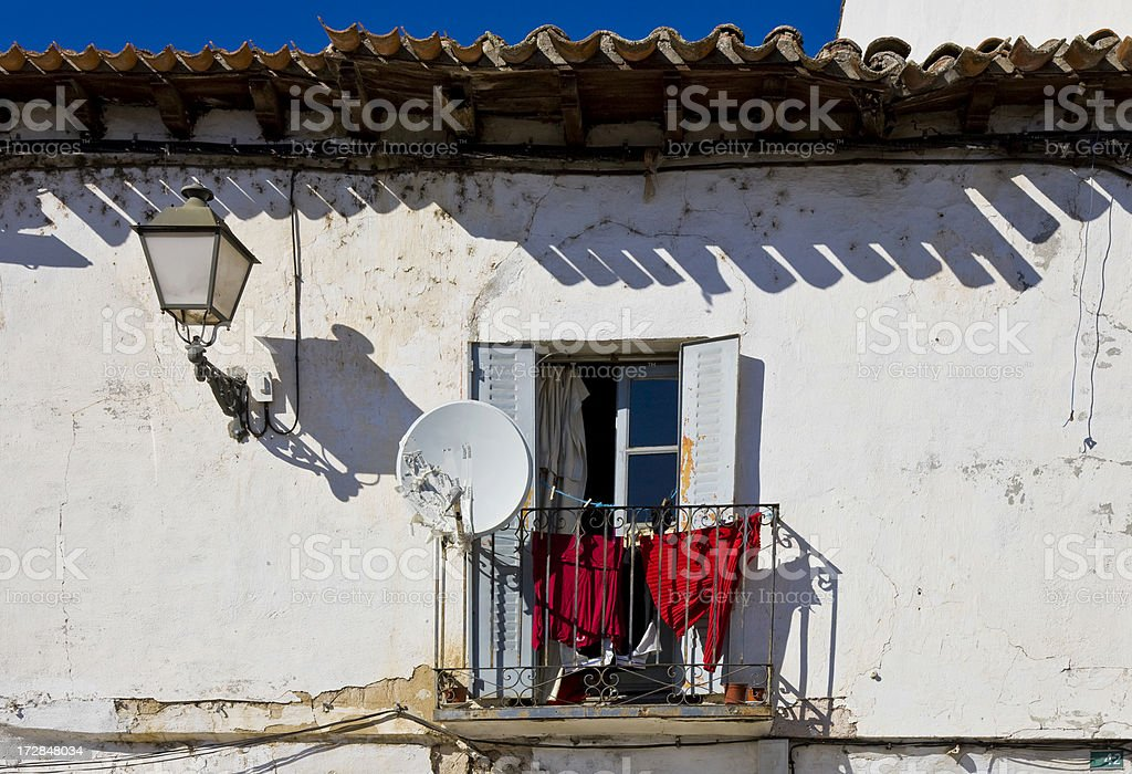Humble house but with parabolic royalty-free stock photo