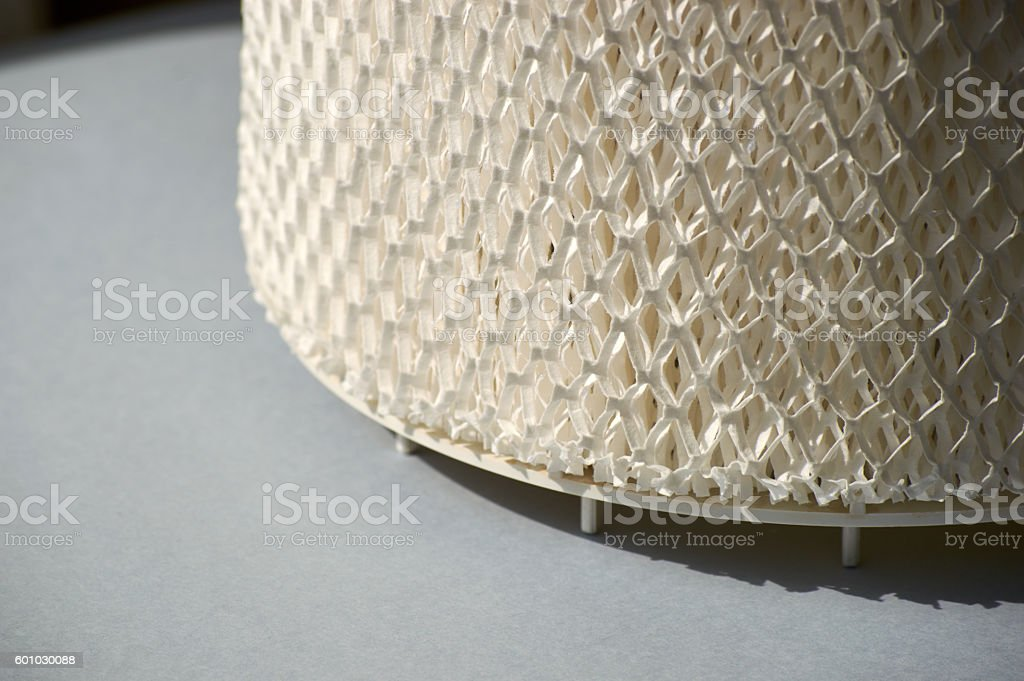 humidifier air filter on the stand stock photo