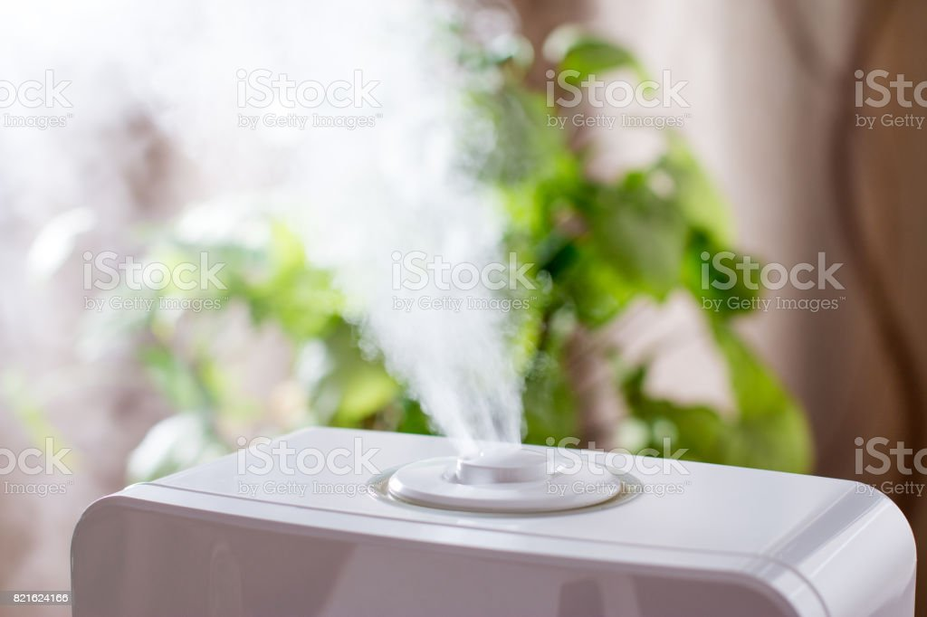 Humidifier in the house stock photo