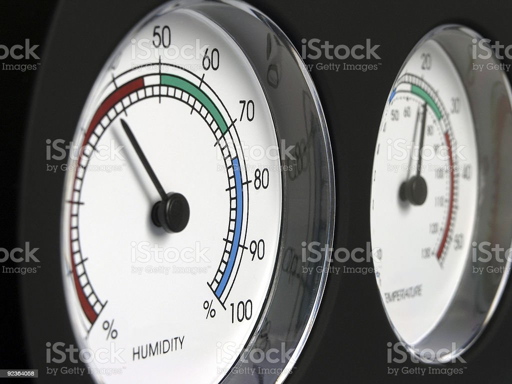 Humidity and Temperature royalty-free stock photo