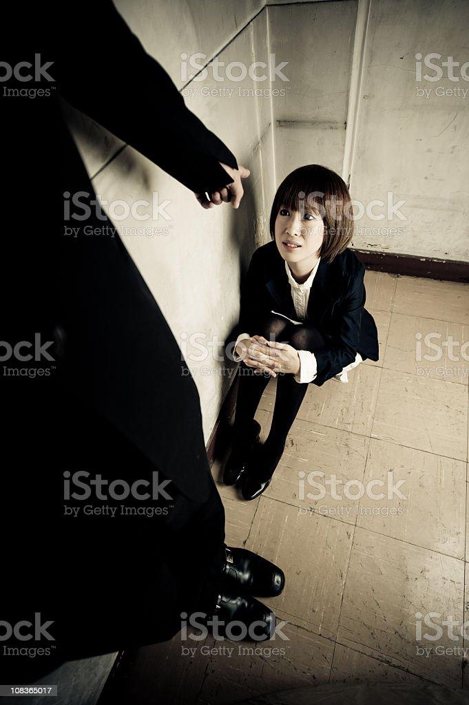Humiliated Woman stock photo
