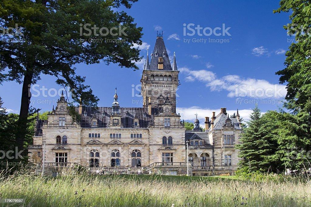 Schloss Hummelshain stock photo