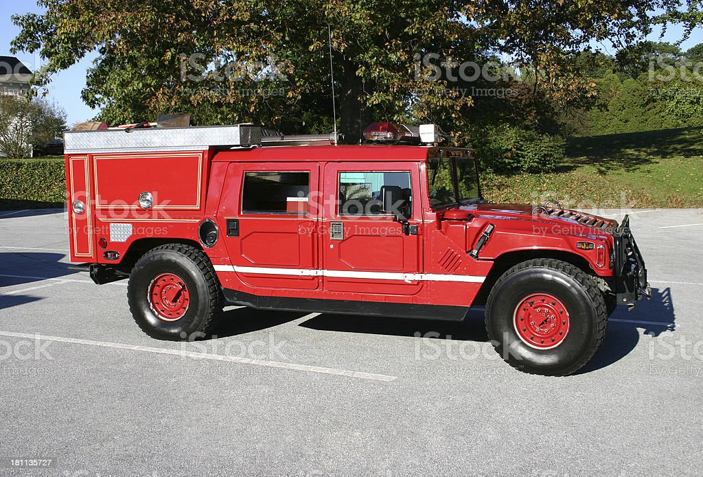 Hummer Fire Truck royalty-free stock photo