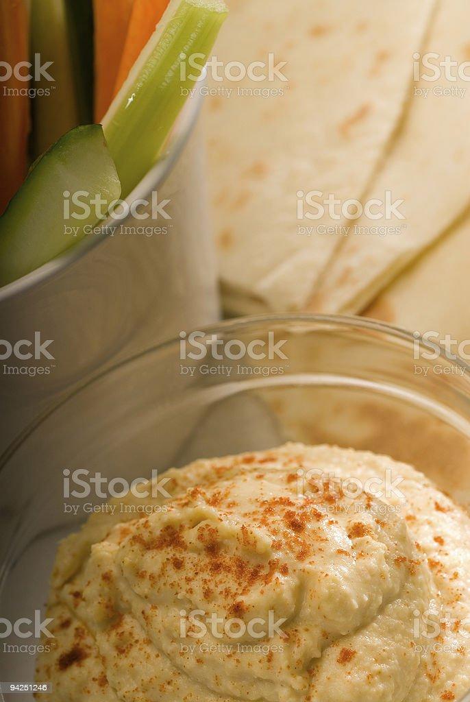 hummus dip on a glass bowl royalty-free stock photo
