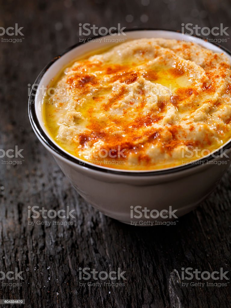 Hummus stock photo