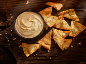 Hummus with Baked Pita Chips