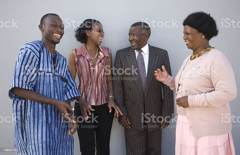Humor between family members stock photo