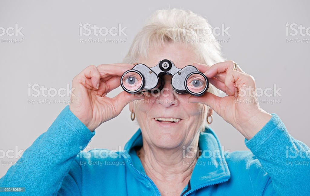 Humorous grandmother stock photo