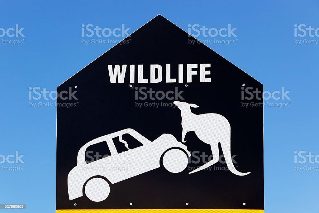 Humorous wildlife warning sign stock photo