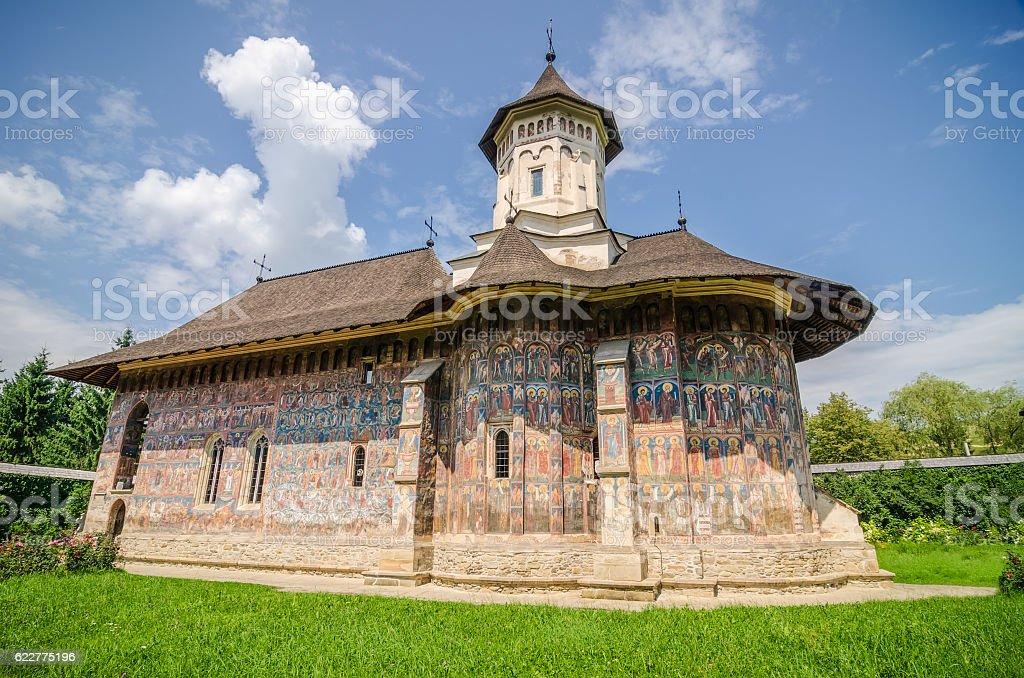 Humorului Monastery stock photo