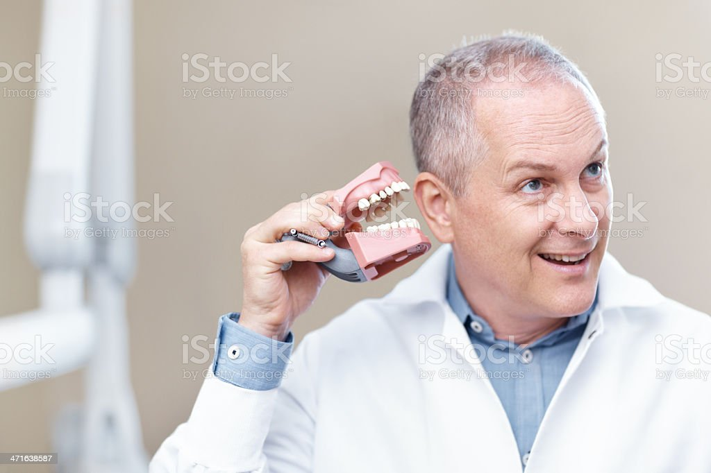 Humour at the dentist office royalty-free stock photo