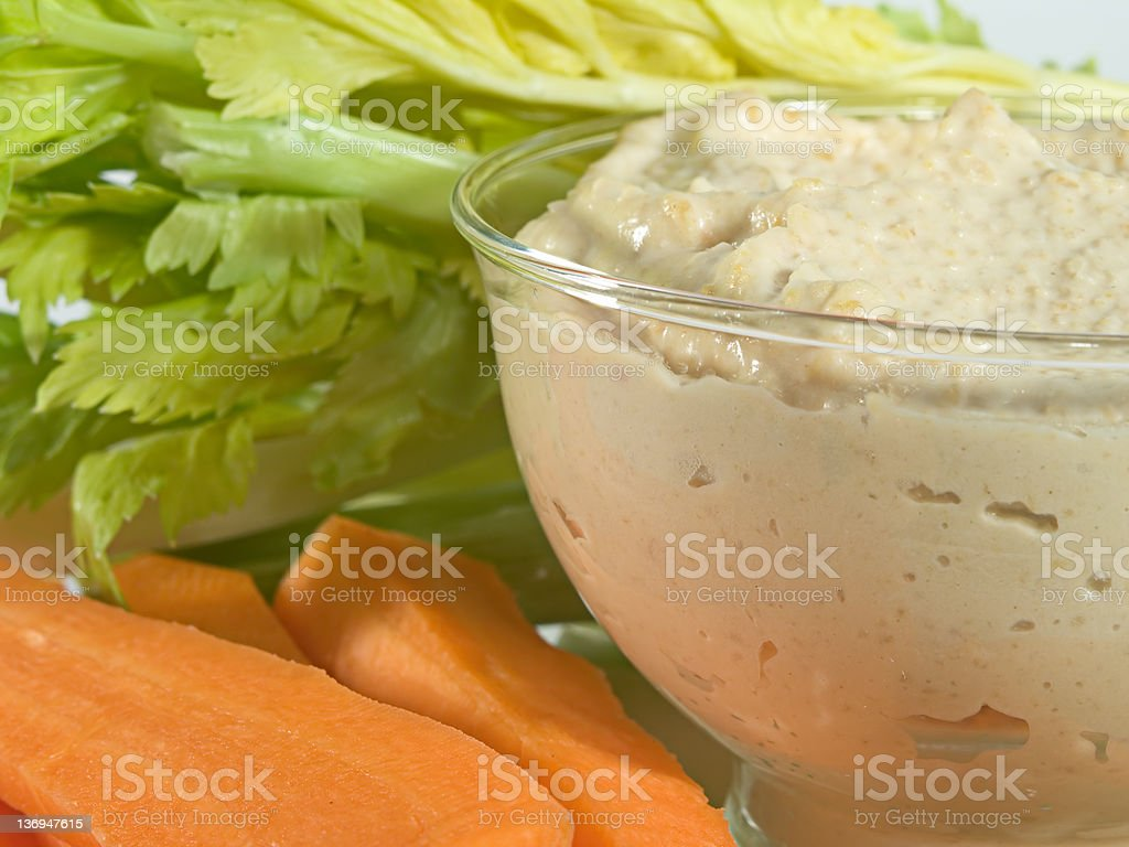 Humous with Vegetable Crudites royalty-free stock photo