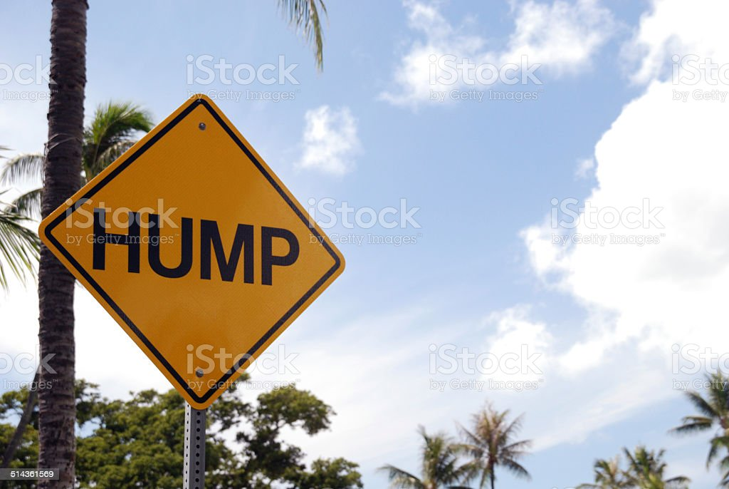 Hump road sign stock photo