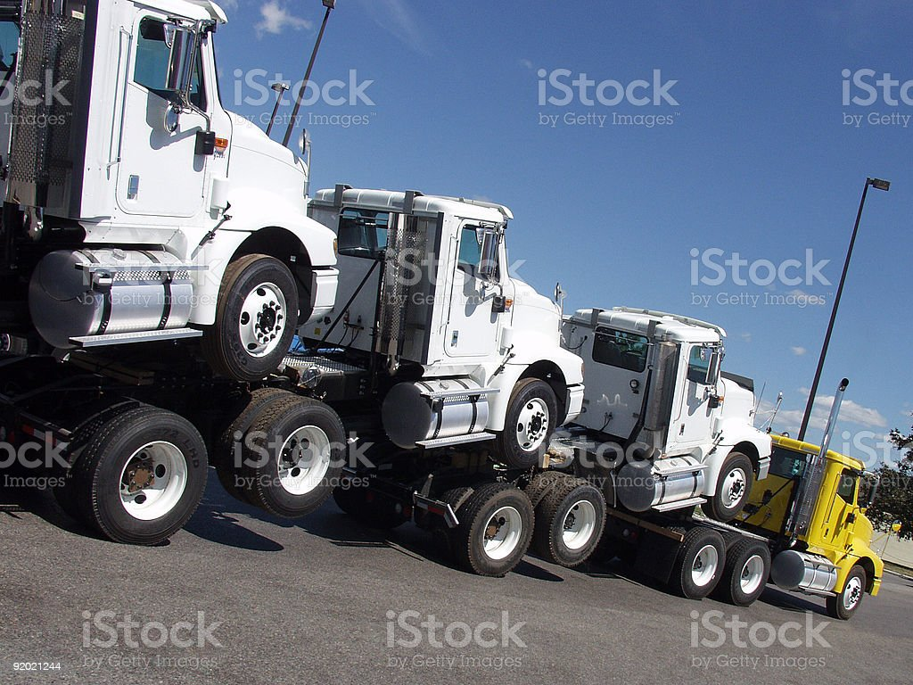 Humped Trucks stock photo