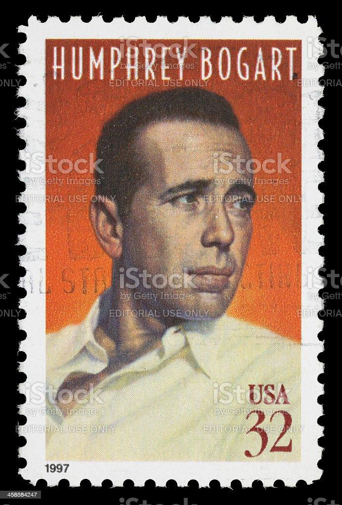 USA Humphrey Bogart postage stamp stock photo