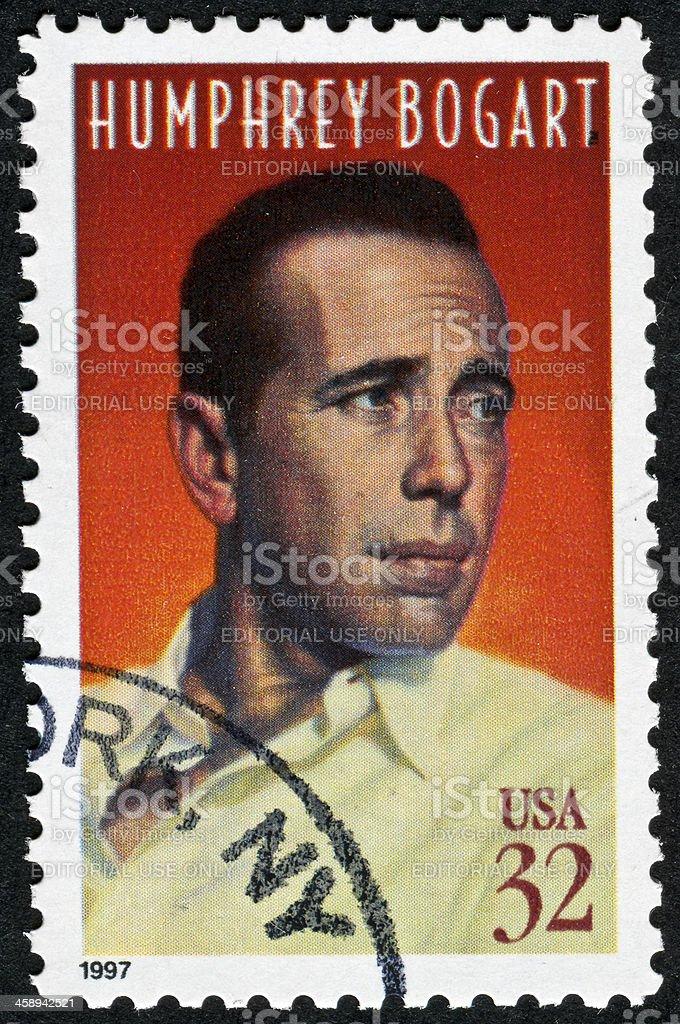 Humphrey Bogart Stamp stock photo