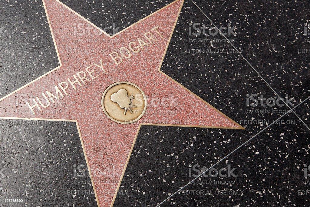 Humphrey Bogart, Walk of Fame stock photo