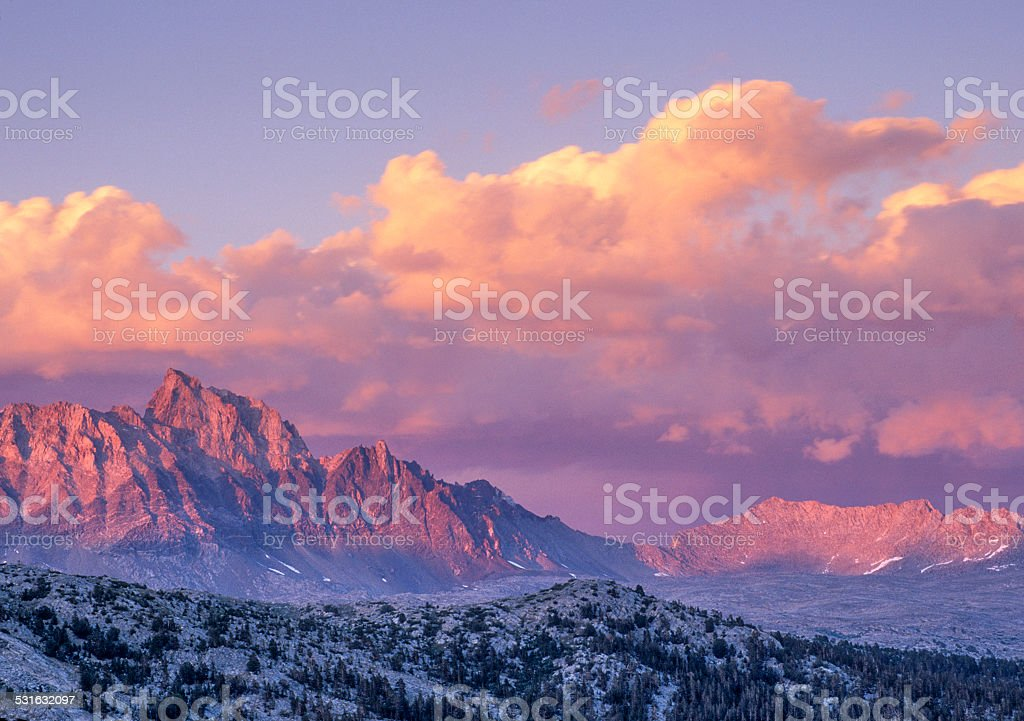 Humphreys Alpenglow stock photo