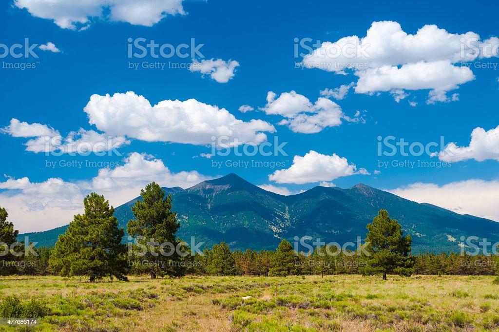 Humphreys Peak and Coconino National Forest outside of Flagstaff, Arizona stock photo