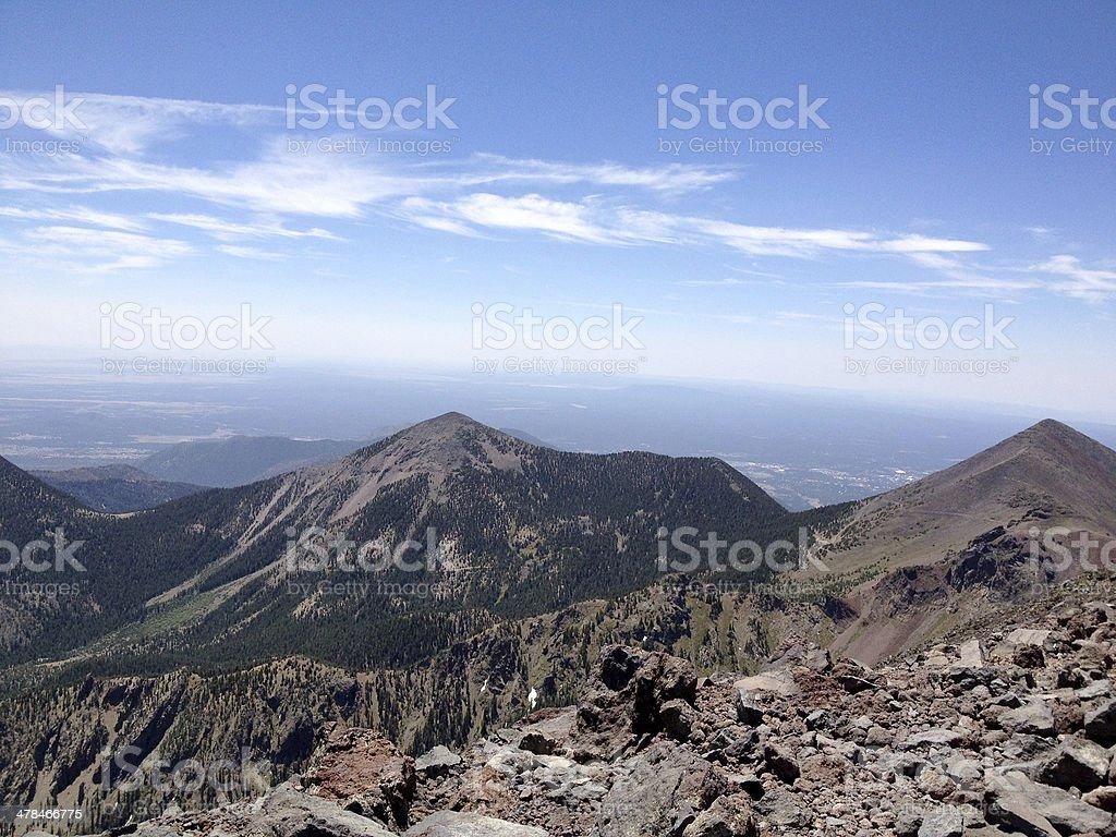 Humphreys Peak, Arizona, USA stock photo
