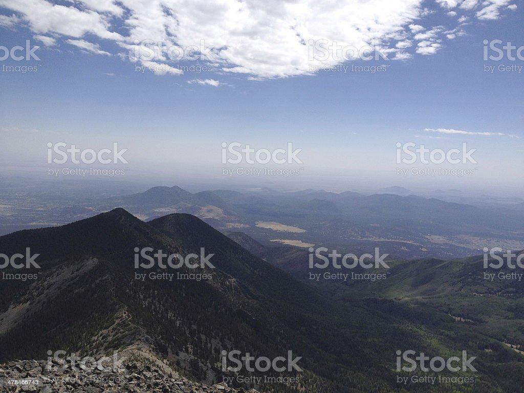 Humphreys Peak View, Arizona, USA stock photo