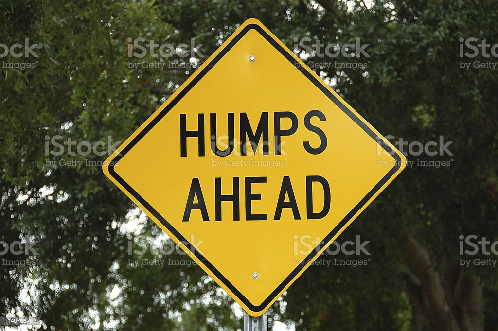 Humps Ahead Sign With Clipping Path royalty-free stock photo