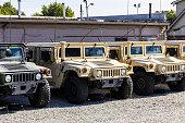 Humvee Multipurpose Vehicles lined up I