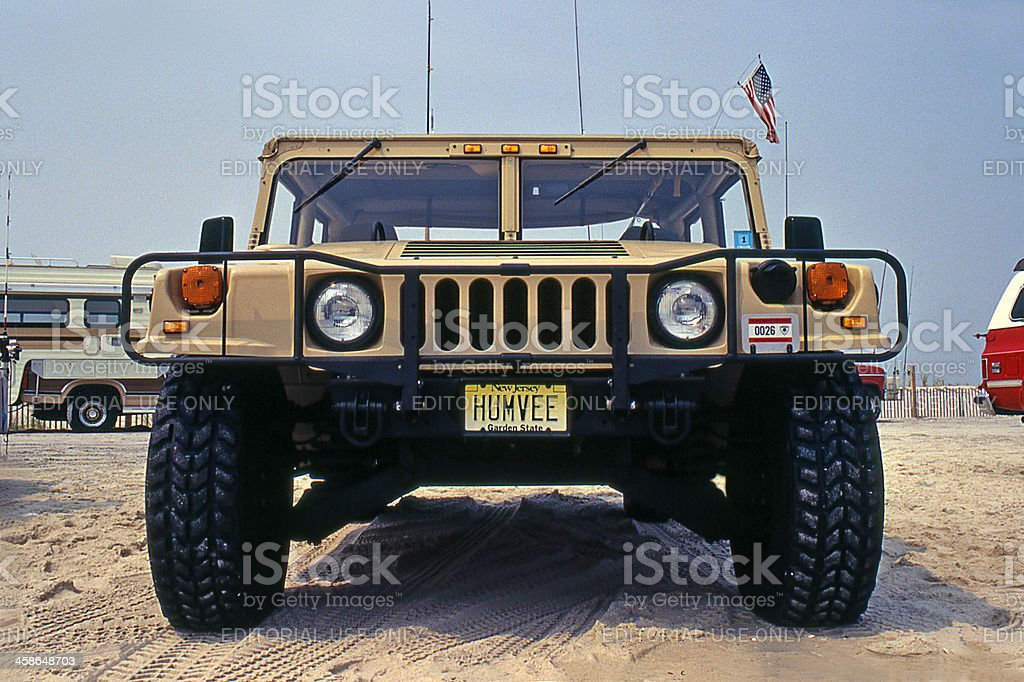Humvee vehicle. stock photo