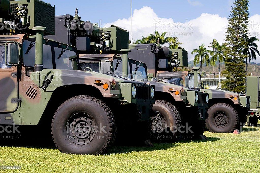 Humvees stock photo