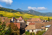 Hunawihr - small village in vineyards of alsace - france