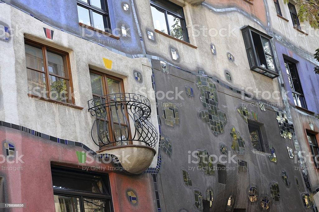 Hundertwasser haus in Vienna stock photo