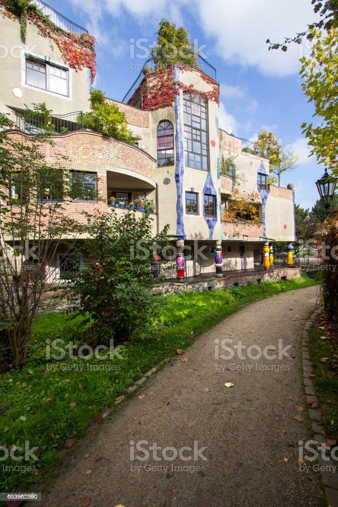 Hundertwasser house, Bad Soden, Germany stock photo