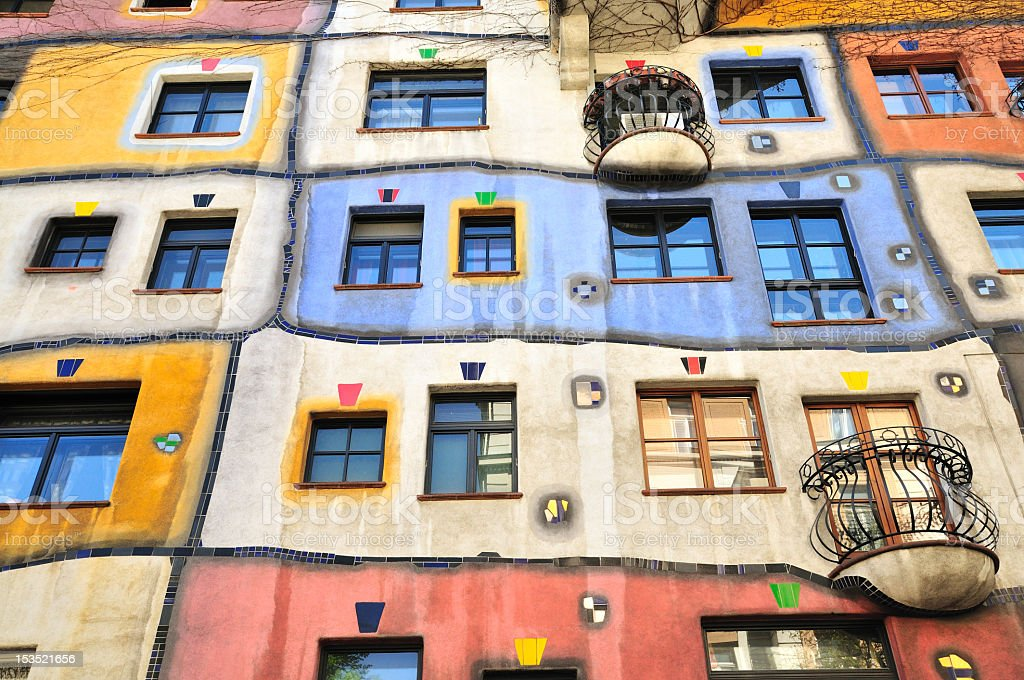 Hundertwasser House, Hundertwasserhaus, Vienna, Austria stock photo