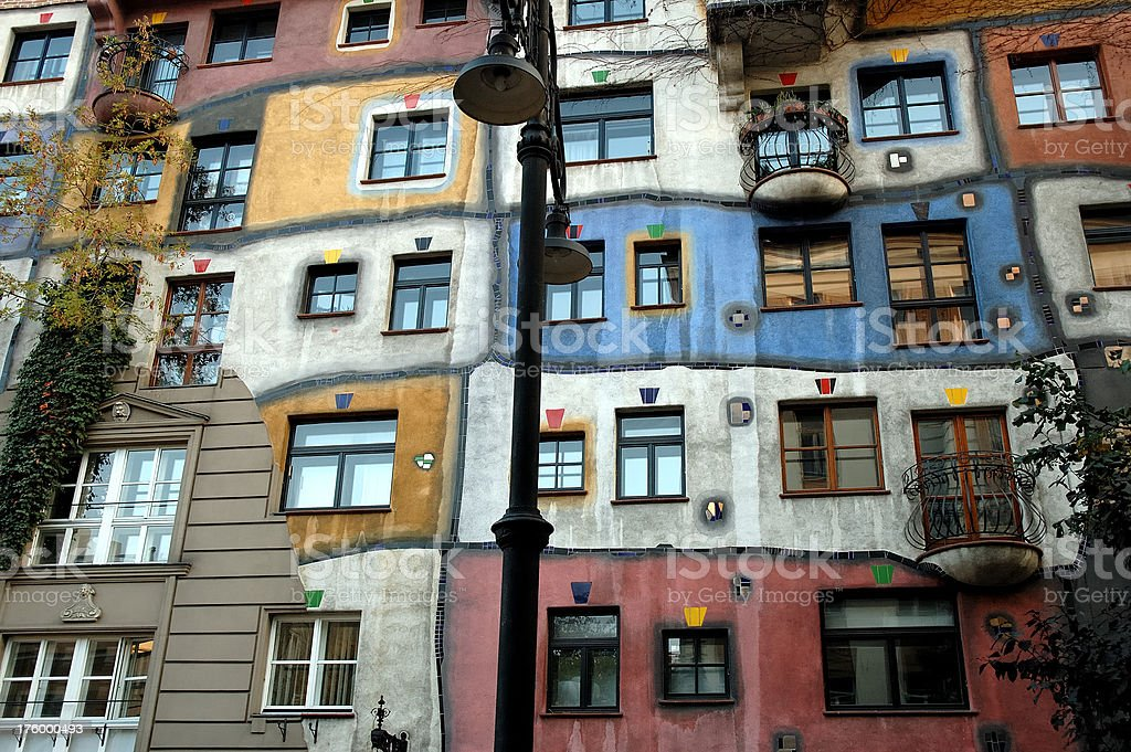 Hundertwasser haus in Vienna royalty-free stock photo