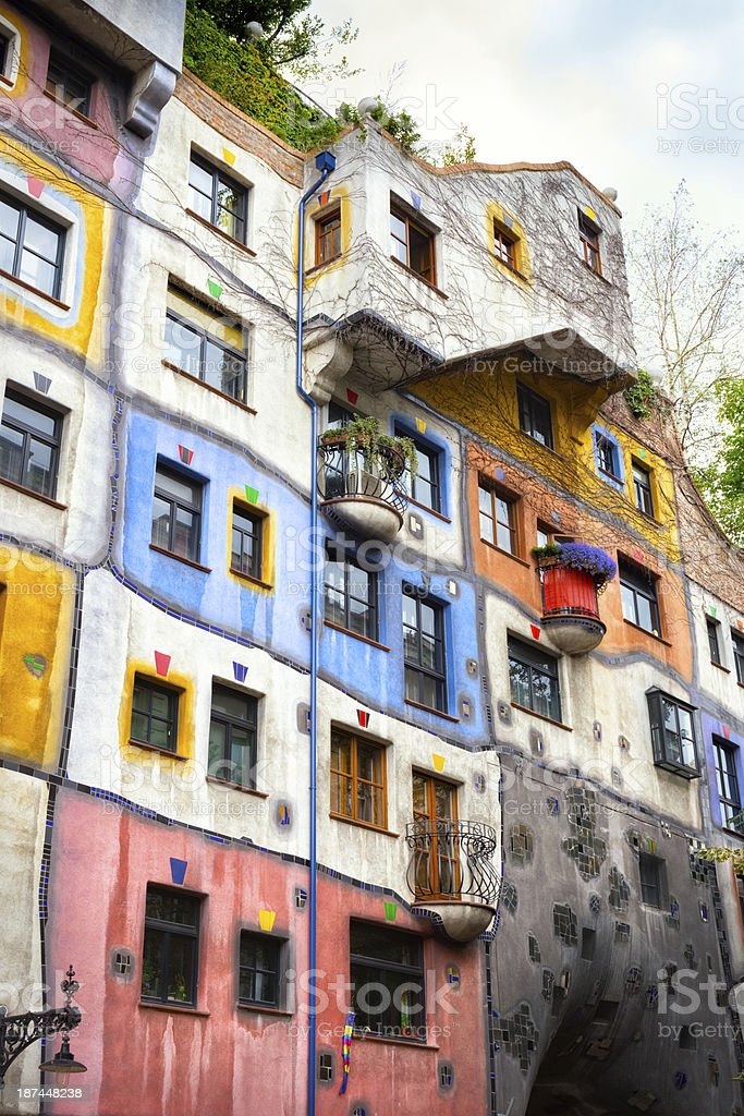 Hundertwasserhaus in Vienna, Austria royalty-free stock photo