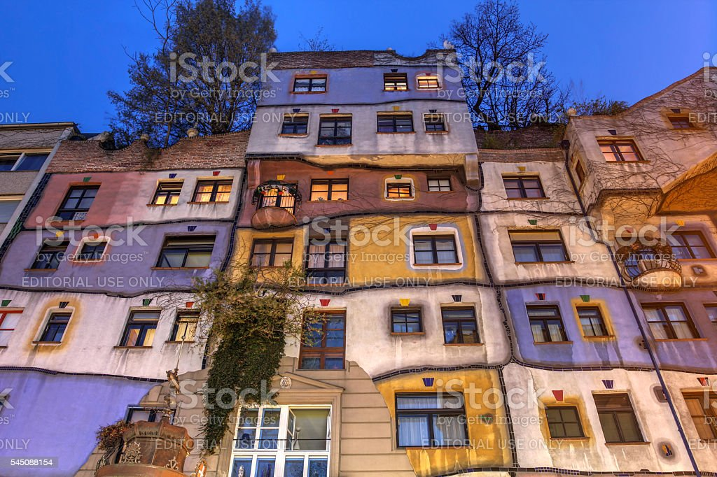 Hundertwasserhaus, Vienna, Austria stock photo