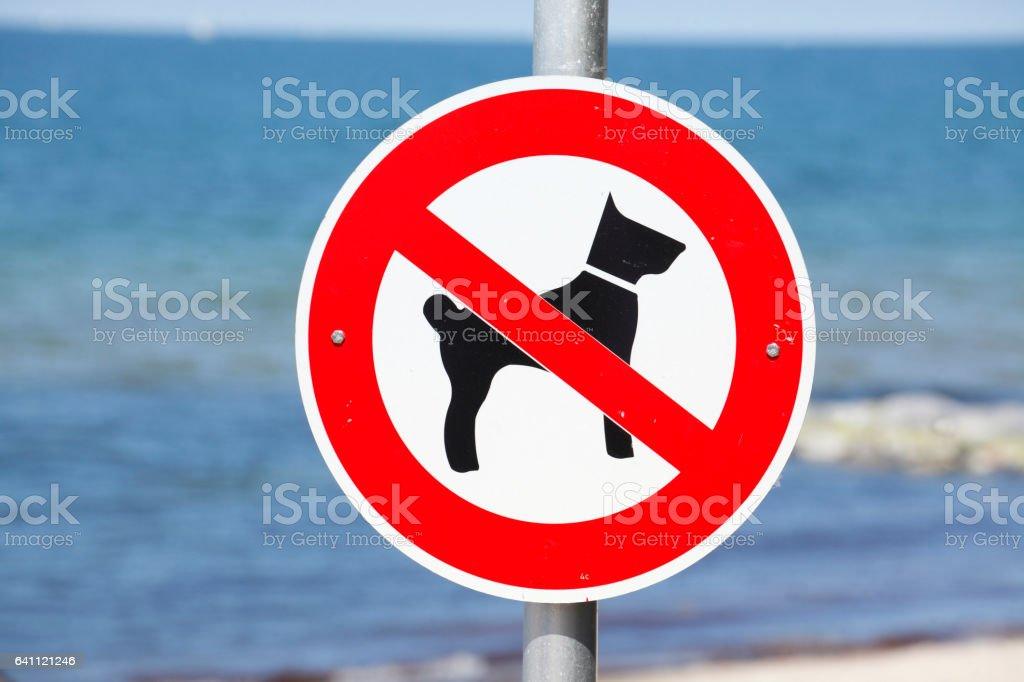Hundeverbotsschild stock photo