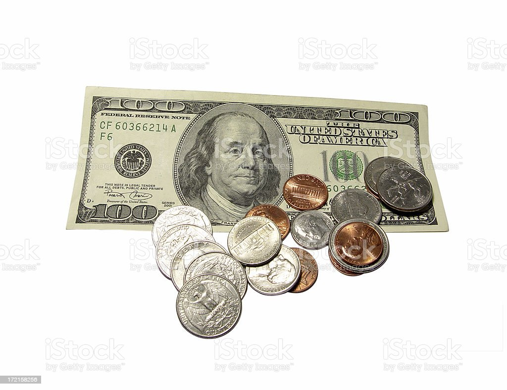 hundred and change stock photo