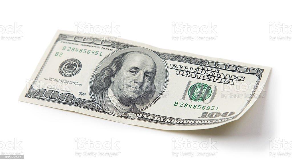 Hundred Bucks Waving stock photo