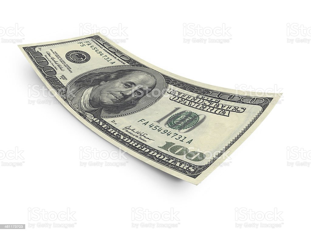 Hundred dollar banknote stock photo