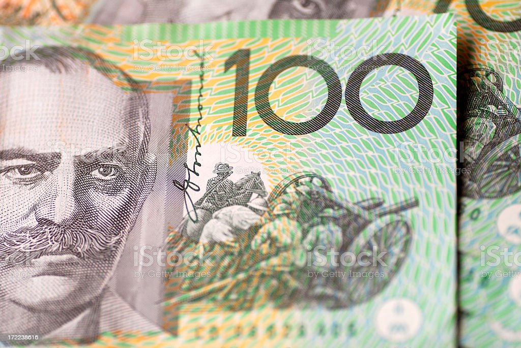 Hundred dollar bill from foreign country stock photo