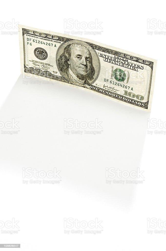 Billete de cien dólares foto de stock libre de derechos