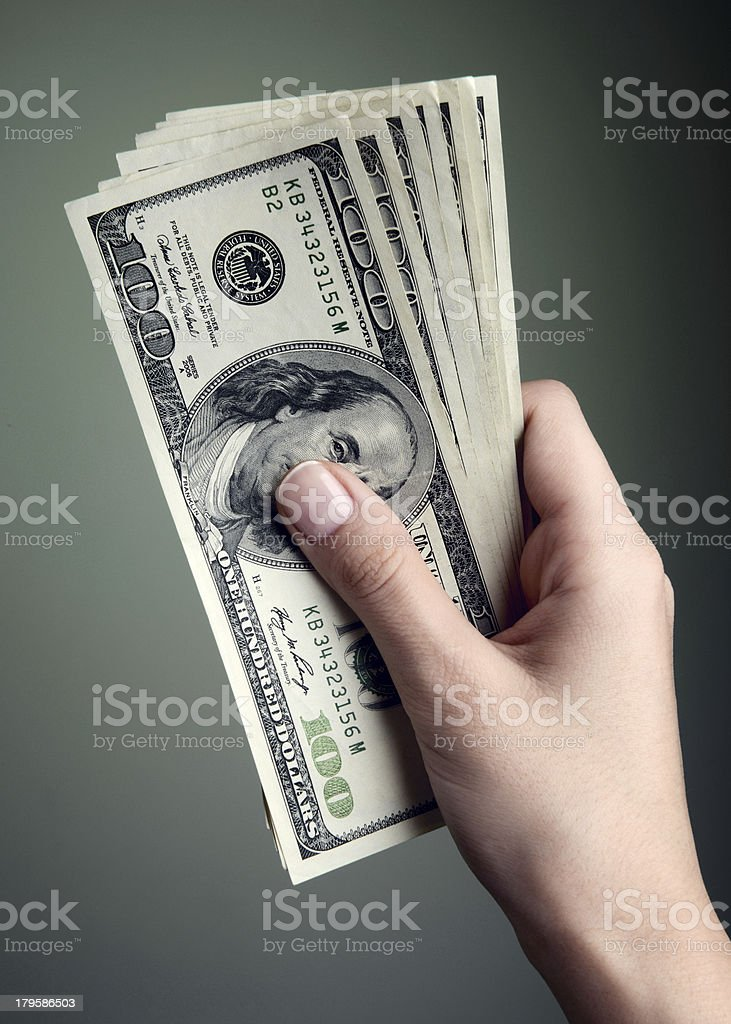 Hundred Dollar Cash royalty-free stock photo