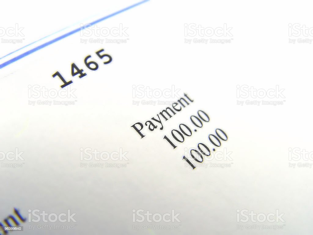 Hundred Dollar Cheque stock photo