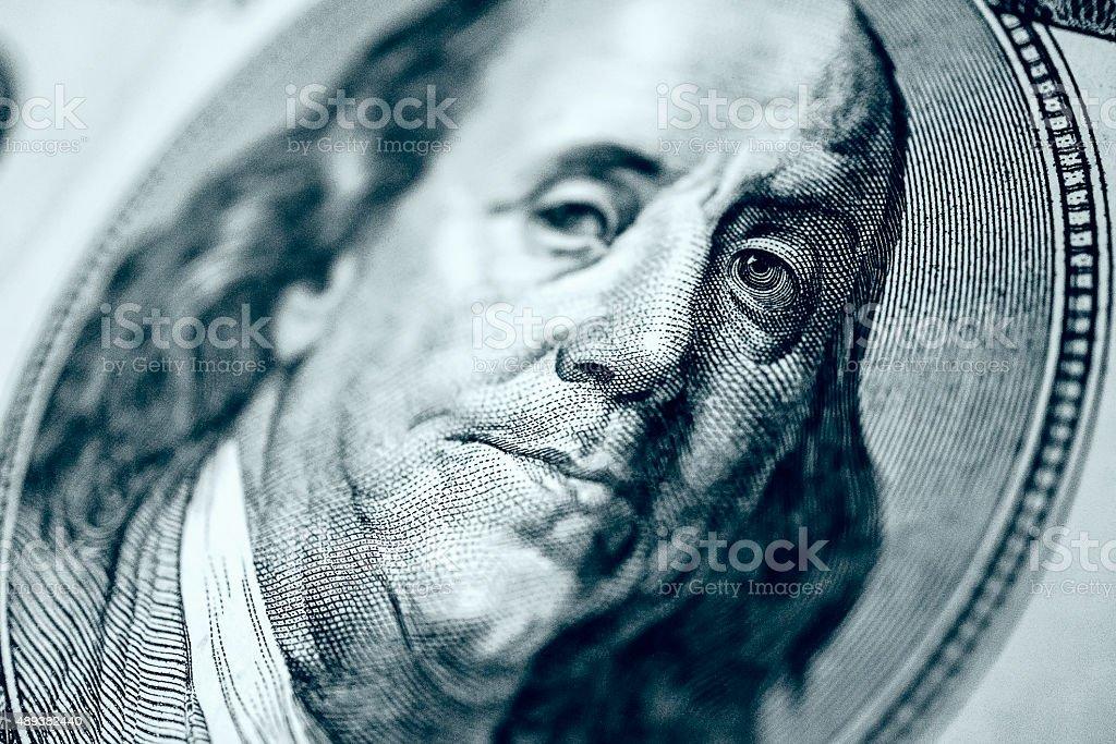 Hundred Dollar- Macro stock photo